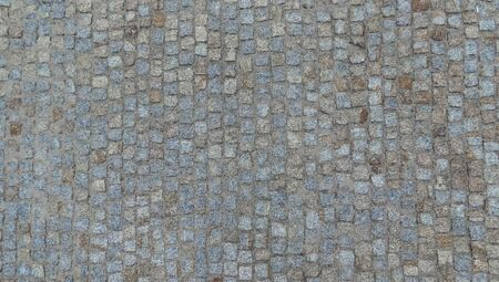 Photo for Texture of broken cobblestone road in europe. - Royalty Free Image