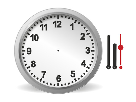illustration of clock kit for self assembly