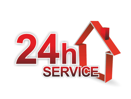 illustration of a 24 hour service for facility management
