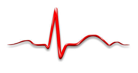 illustration of an electrocardiogram of a beating heart