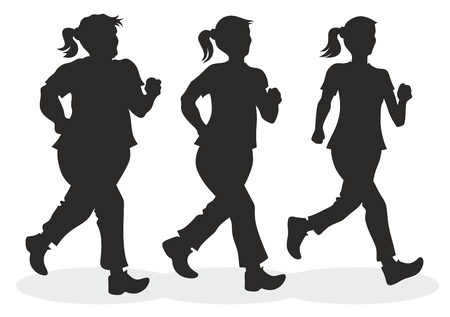 illustration of jogger with different body measurements