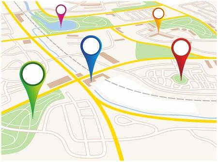 illustration of a city map of a fictive city