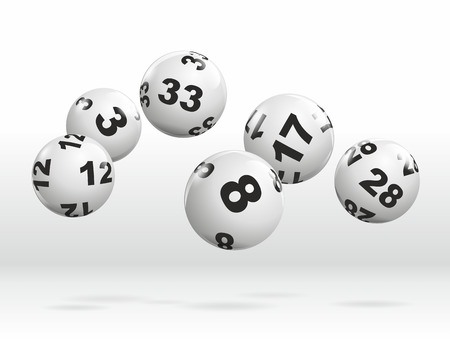 abstract illustration of dynamically rolling lottery balls