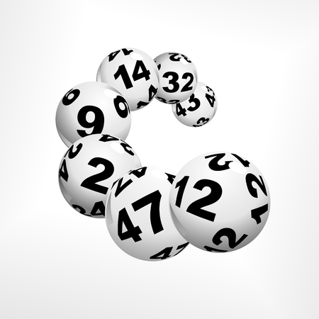 floating lottery balls as metaphor for lottery