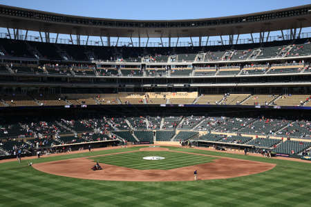 Minneapolis, April 22, 2010: Target Field, brand new ballpark of the Minnesota Twinsのeditorial素材