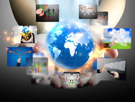 Foto de hand holding business world  - Imagen libre de derechos
