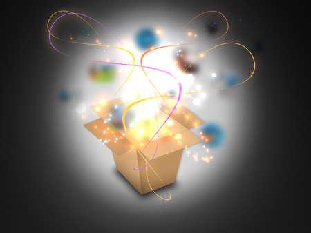 Glowing Magic box