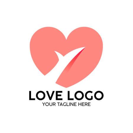 Illustration pour love logo pink modern concept design - image libre de droit