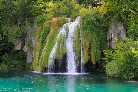 Spring Lakes in Plitvicka Jezera National Park in Croatia
