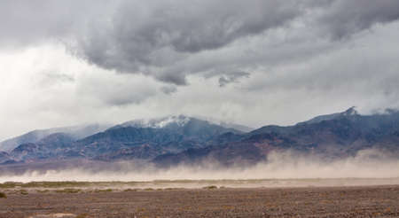 A storm kicks up dust clouds in Death Valley National Park