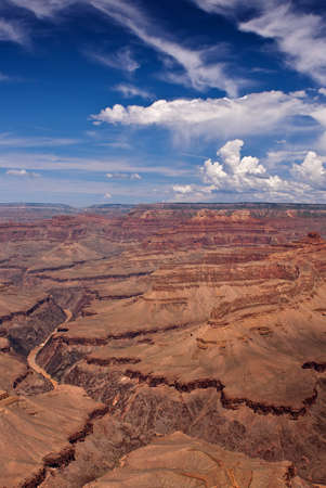 Grand Canyon South Rim Overlook with a view of the Colorado River below