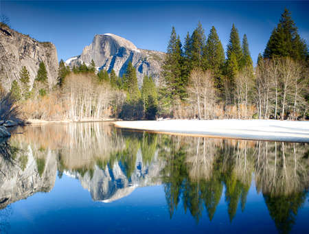 View of half dome reflected