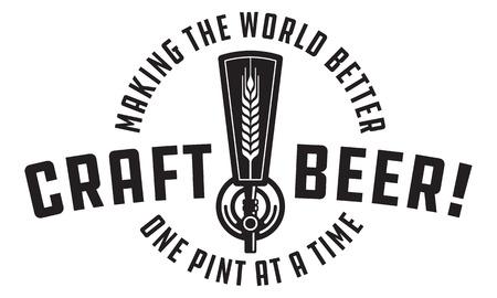Illustration pour Craft beer draft design illustration. - image libre de droit