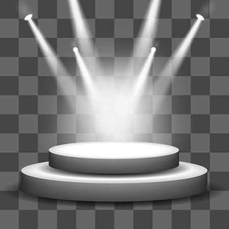 Illustration for Spotlight shining on empty stage transparency background - Royalty Free Image