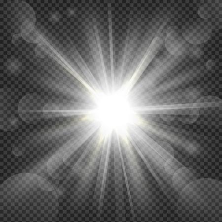Ilustración de White shine on transparency background - Imagen libre de derechos