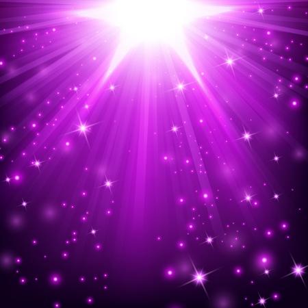 Illustration pour Violet lights shining with sprinkles - image libre de droit