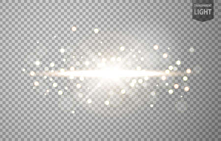 Illustration pour Abstract sun shines with lens flare and blur in motion glow glare. isolated on transparent background. Vector Illustration - image libre de droit
