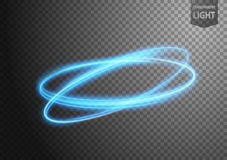Illustration pour Abstract blue wind line of light with a transparent background, isolated and easy to edit. Vector Illustration - image libre de droit