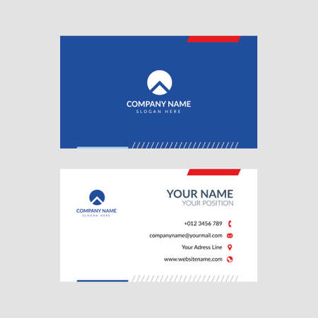 Illustration for Professional modern business card vector design. Editable and perfect for many kinds of company, foundation, etc. - Royalty Free Image