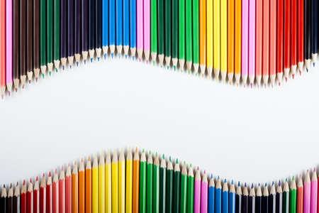 Photo pour Colored Pencils Wave! - image libre de droit