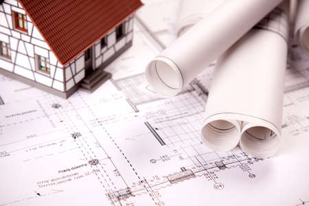 Photo for Construction plans - Royalty Free Image