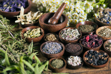 Photo pour The ancient Chinese medicine, herbs and infusions - image libre de droit