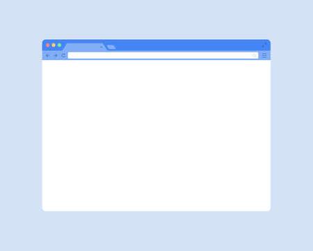 Illustration pour Flat web browser window mockup. Blank vector browser window - image libre de droit