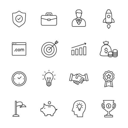 Ilustración de Business line icons - Imagen libre de derechos