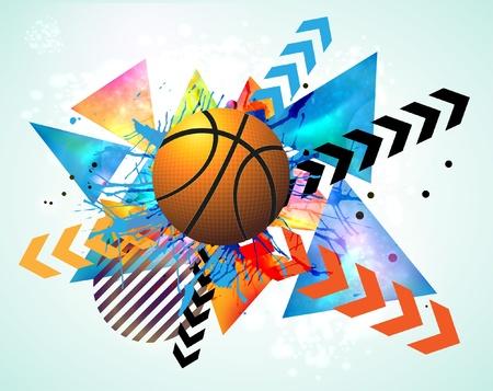 Illustration pour basketball advertising poster. - image libre de droit