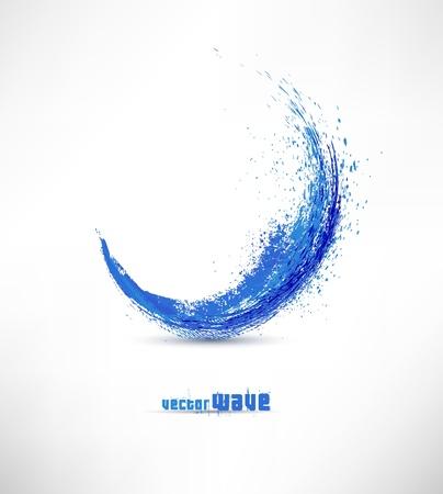 Illustration pour Vector illustration of abstract blue wave - image libre de droit