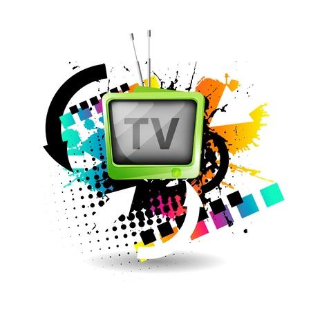 Illustration pour Cute retro tv vector - image libre de droit