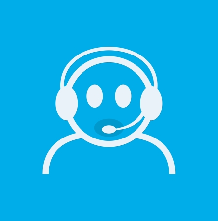 Headset Contact. Live Help. Support icon. Vector