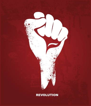 Clenched fist hand   Revolution concept