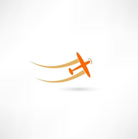 Illustration for airplane symbols - Royalty Free Image
