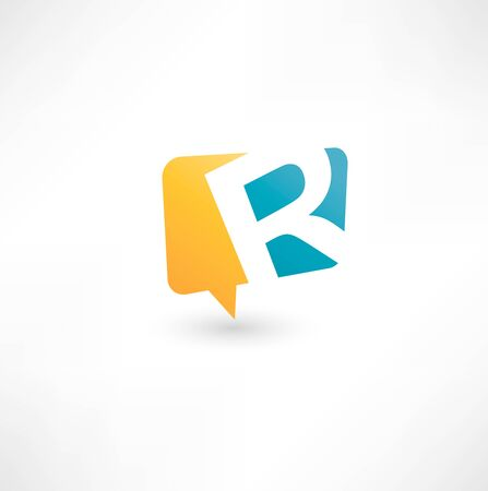Abstract bubble icon  based on the letter R