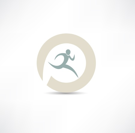 Illustration pour runner icon - image libre de droit