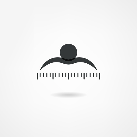 Illustration pour measure icon - image libre de droit