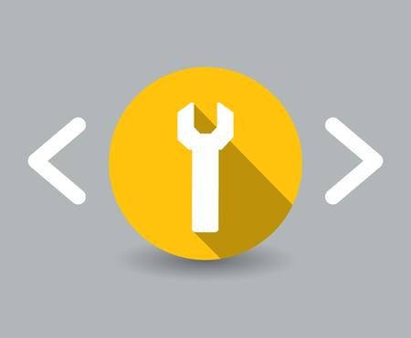 flat design wrench icon