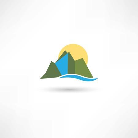 simple mountains symbol