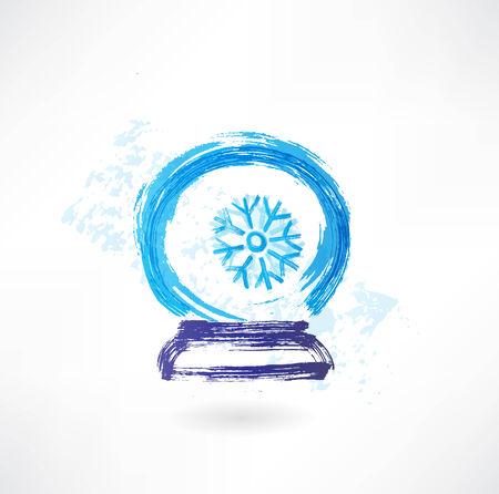 magic glass bowl grunge icon