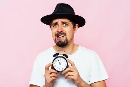 Foto de Clock, Man delay - Imagen libre de derechos