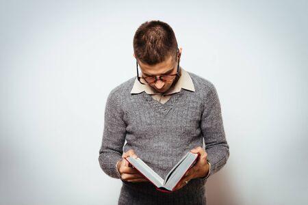 Photo pour The man with a book - image libre de droit