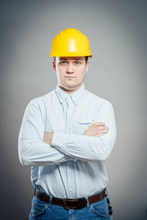 Photo pour Construction Contractor Businessman - image libre de droit
