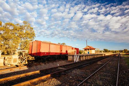 Photo pour Muckleford Train Station Victoria Australia - image libre de droit