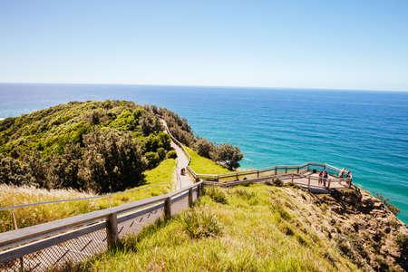 Photo pour Path Around Byron Bay Lighthouse in Australia - image libre de droit