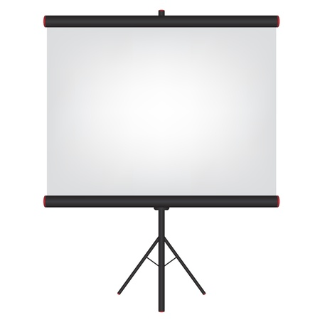 Projector screen black illustration