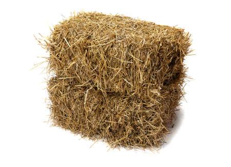 Studio shot of hay, isolated on white