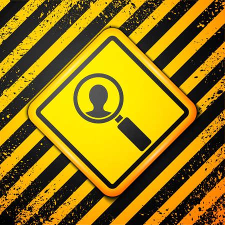 Black Medical analysis icon isolated on yellow background. Medicine help. Pharmacy medication symbol. Warning sign. Vector Illustration
