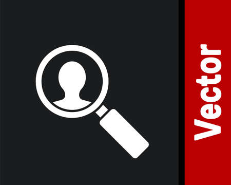 White Medical analysis icon isolated on black background. Medicine help. Pharmacy medication symbol. Vector Illustration