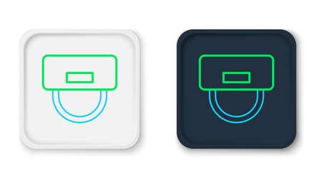 Illustration pour Line Bellboy hat icon isolated on white background. Hotel resort service symbol. Colorful outline concept. Vector - image libre de droit